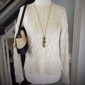 Ann Taylor Loft Knitted Cream Sweater